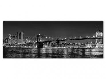 Tableau noir et blanc pont de Brooklyn
