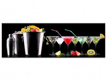 Tableau deco murale cocktails de fruits
