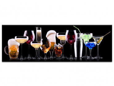 Tableau deco design verres à cocktail