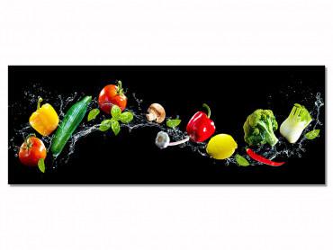 Tableau cuisine design legumes