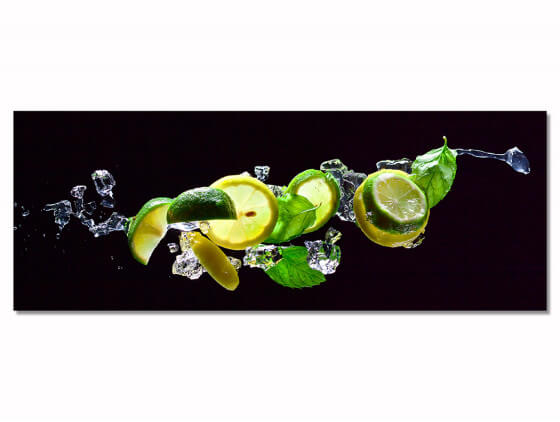 Tableau decoratif citrons verts et jaunes