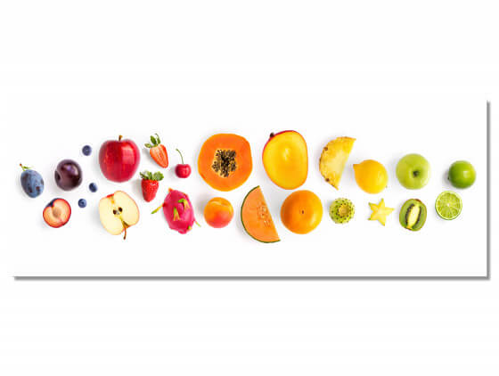Tableau deco farandole de fruits