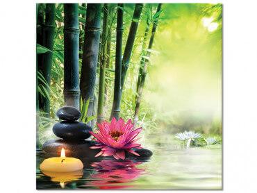 Tableau zen bambou pour deco spa