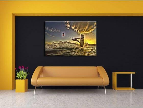 Tableau deco murale moderne kite surf HDR