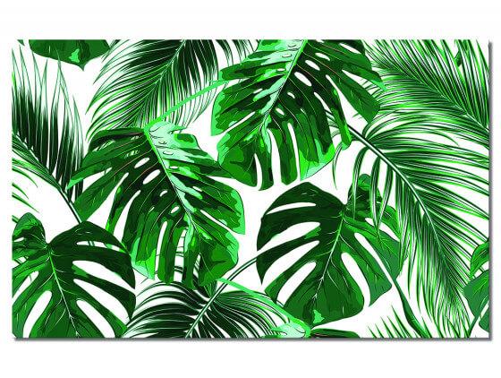 Tableau mural tropical feuille