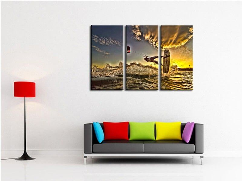 tableau kite surf d coration murale prix r duit sur. Black Bedroom Furniture Sets. Home Design Ideas