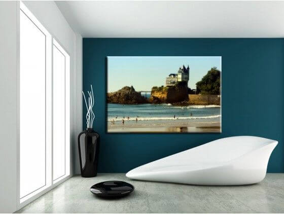 Tableau moderne photographie Biarritz