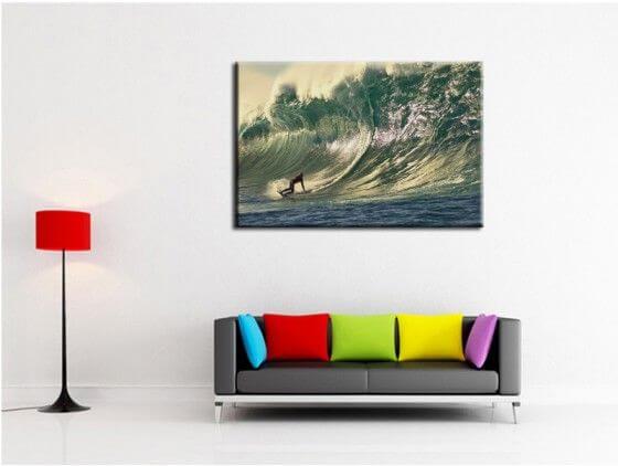 Tableau paysages moderne surf grosse vague