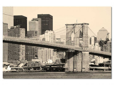 Tableau New York and Brooklyn Bridge