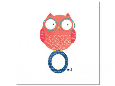 Tableau enfant O comme Owl