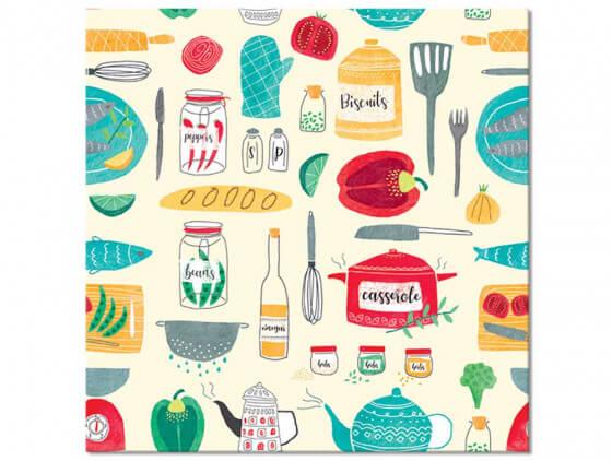 """Tableau cuisine """"Set de Vaisselle"""""""