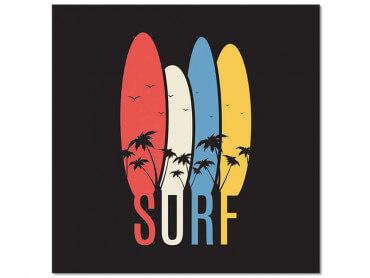 Tableau retro Passion Surf