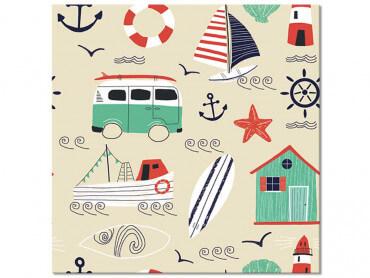 Tableau enfant Vacances à la Mer