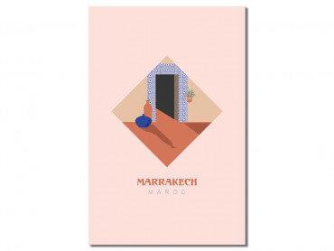 Tableau graphique Marrakech Maroc