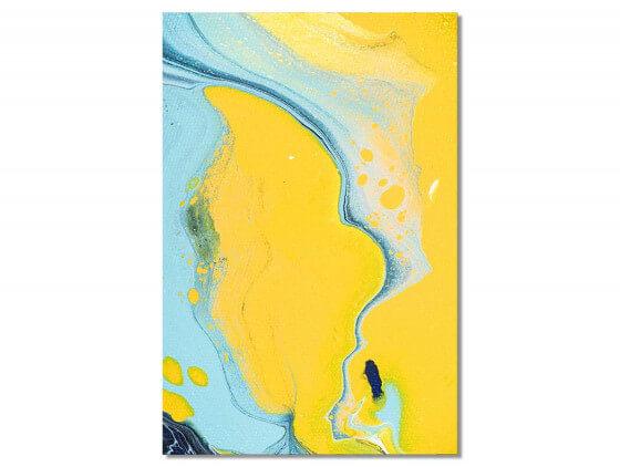 Tableau abstrait vertical ondes océaniques