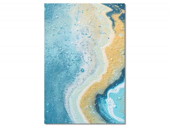 Tableau abstrait Blue paint bubble