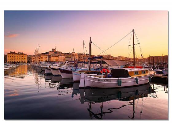 Tableau Marseille , le Vieux Port