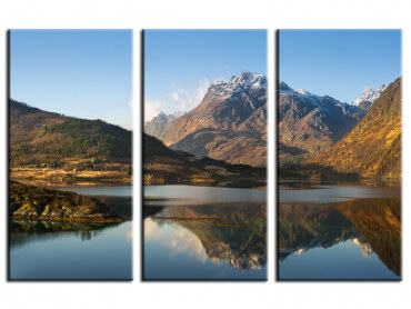 Tableau Montagne et Lac, l île lofoten