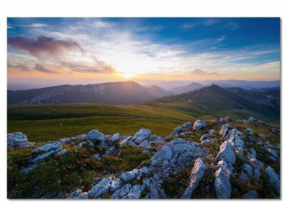 Tableau Au sommet du mont Chiran
