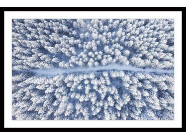 Affiche Bleue de Neige blanche