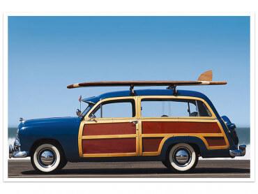 Affiche Surf Car de Legende