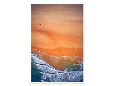 Affiche plage Terre de Sienne