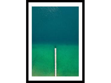Affiche plage Tropiques Dans Mon Coeur