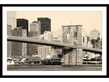 Affiche New York and Brooklyn Bridge