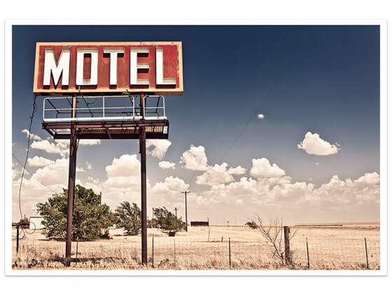 Affiche Motel and Neon lights