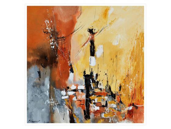 Affiche abstraite Terre d' Ocre et de Sienne
