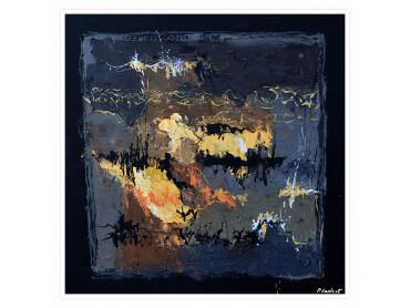 Affiche abstraite Monochromatique de bleus