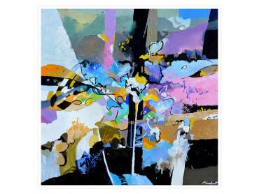 Affiche abstraite Reminescence en arc-en-ciel