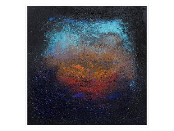 Affiche abstraite Impression de profondeur bleue