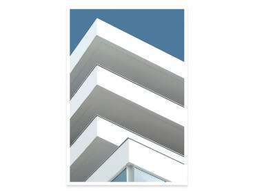 Affiche architecture urbaine Balcons sur angle