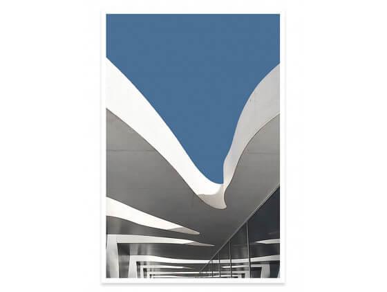 Affiche architecture urbaine Balcons et échappées