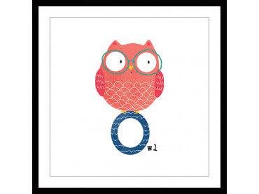 Affiche enfant O comme owl