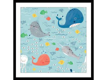 Affiche enfant Happy Ocean