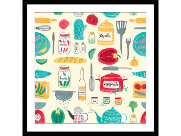 Affiche cuisine Set de Vaisselle
