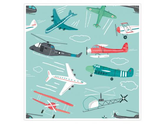 Affiche Enfant Avions à gogo