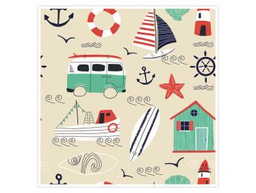 Affiche enfant Vacances à la mer