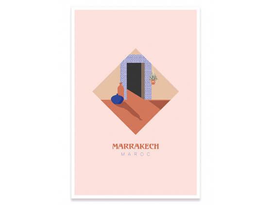 Illustration graphique Marrakech Maroc