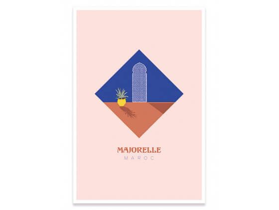 Illustration graphique Majorelle Maroc