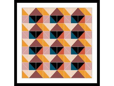 Affiche patchwork scandinave