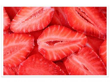 Affiche cuisine salade de fraises