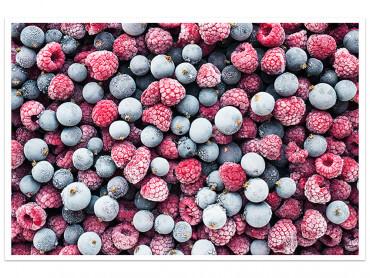 Affiche cuisine Coktail de fruits rouges givrés