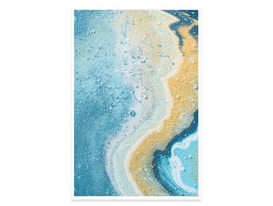 Affiche abstraite blue paint bubble