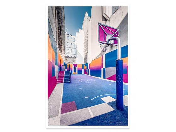 Affiche urbaine City Park bleu