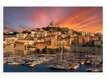 Affiche Marseille, La Bonne Mère