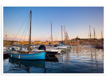 Affiche Marseille, Les Pointus du Vieux Port