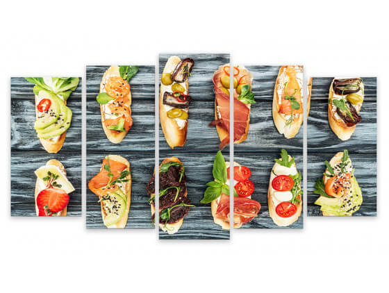 Tableau Deco Cuisine Tapas et Pintxos, 150x80cm